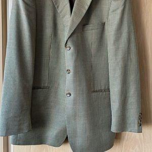 Men's Stafford Sport Coat 42L Camel, Green Tones